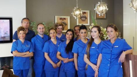 Teamfoto tandartsen
